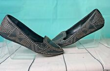 BCBG Generation Taloola Stylish Studded Ballet Flats Black Sz 5.5 m Women