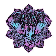 Elephant Mandala boho colorful Sticker Decal Laptop Art vinyl 30019