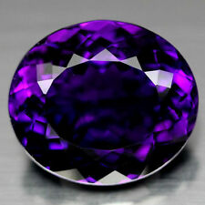 10x8mm OVAL-FACET VERY DEEP-PURPLE NATURAL AFRICAN AMETHYST GEMSTONE