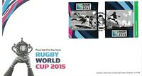 GB 2015 RUGBY WORLD CUP SELF ADHESIVE NVI STAMPS ROYAL MAIL FDC GOOD PMK