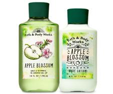 Bath & Body Works Apple Blossom Body Lotion + Shower Gel Duo Set