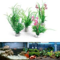 Artificial Plastic Water Grass Green Plant Ornament For Fish Tank Aquarium