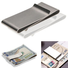 Stainless Steel Silver Money Clip Holder Cash Wallet Gift Mens Wedding Favour