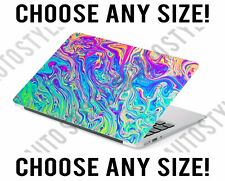 Psychedelic Rainbow Slime Laptop Skin Decal Sticker Tablet Skin Vinyl Cover