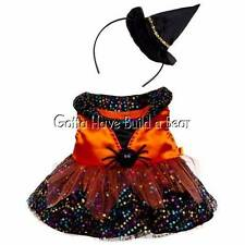 Build-a-Bear Halloween Sequin Witch Costume Dress & Hat Headband NWT