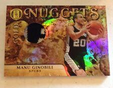 2010-11 Panini Gold Standard Nuggets JERSEY #45 Manu Ginobili 3 Clr Patch 14/25