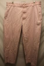 Men's Chaps Ralph Lauren Pink Pants Size 34x29 100% Cotton Flat Front