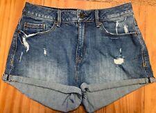 American Rag Cie Junior's Size 5 Denim 2 IN High-Rise Distressed Shorts EUC