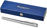 Waterman Graduate Fountain Pen with Gift Box– Stainless Steel, Silver + Stylus