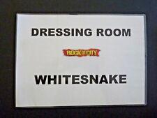 Whitesnake Tour Used Band Dressing Room Door Sign ORGINAL LAMINATED