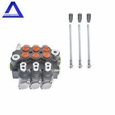 Adjustable 3 Spool Hydraulic Directional Control Valve 11GPM Double Acting