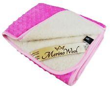 WARM Merino Wool CASHMERE Fleece baby Blanket PINK Duvet 75x100cm PERFECT GIFT