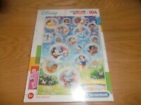DISNEY SUPER COLOR 104 PIECE JIGSAW PUZZLE NEW & SEALED CLEMENTONI 27119