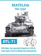 Friul atl-71 1/35 Matilda Flat Type, 150 eslabones, 2 Sprocket Wheels