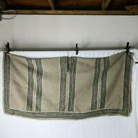 Vintage Indigenous Native Poncho Wool Striped