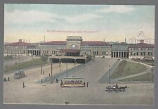 [53863] OLD POSTCARD NEW YORK NEW HAVEN & HARTFORD RAILWAY STATION PROVIDENCE RI