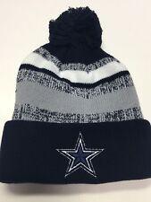 Beanie POM POM Logo Sport Football SKI Cap KNIT Hat Winter Wear ALL TEAM ONE SZ