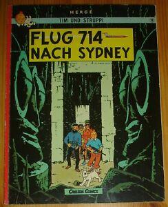 Tintin / Flug 714 nach Sidney / Germany 1982 / Herge / SC