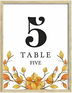 Darling Souvenir Autumn Theme Table Numbers Fall Wedding Reception-DS-JSTN3B