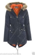 Cappotti e giacche da donna blu pelliccia , Taglia 46