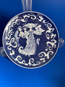 Royal Copenhagen Mors Dag Mothers Day Gift 1972 Blue Plate Denmark Children