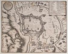 Matthäus Merian - Grundriß der Stadt Eger - Kupferstich - 1647