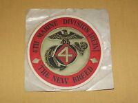 VINTAGE USMC  4TH MARINE DIVISION THE NEW BREED STICKER