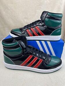 Adidas Top Ten Hi (RB) Black Green Red Patent FX7874 Men's Size 12