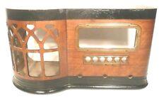 vintage DETROLA 223 RADIO SHELL ... INCLUDES 2 BRASS FACEPLATES