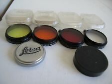 New listing 4 Leica A36 Color Filters + Lens Caps Front & Rear