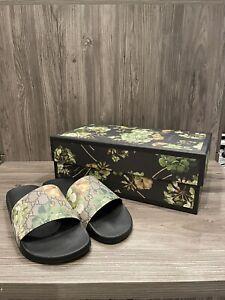 Gucci GG Canvas Blooms Print Sandal/Slides Men's Gucci Size 8