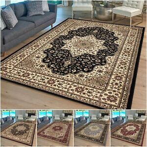 Heavy Duty Oriental Style Large Rug Non-Slip Bedroom Living Room Classic Carpet