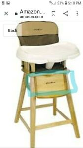 CHAIR SEAT SUPPORT SECTION - Eddie Bauer Wood High Chair- Replacement  Part Only