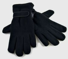 12 x Pairs Black Polar Fleece Gloves Thermal Insulated Winter Warm Wholesale
