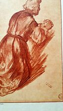 Rembrandt Heliogravure on Japon  plate signed France 1800,s 8.5x11.75  Jerome