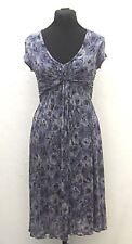 Calf-length Jigsaw purple floral jersey dress size 8
