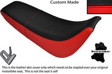 BLACK & RED CUSTOM FITS SUKIDA GY 200 DUAL LEATHER SEAT COVER