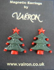 Weihnachtsbaum Ohrringe Ideal Für Kinder - Magnetisch, Clip Auf Oder Stud Fixing