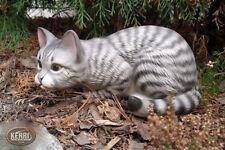 Gato Decoración Estanque de Jardín Resistente a la Intemperie Hecho a Mano Gatos
