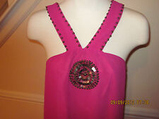 NWT boston proper embellished medallion dress fuchsia xs                     #88