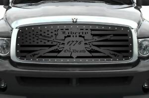 Custom Grille Kit for Dodge Ram Truck 1500/2500/3500 2002-2005 LIBERTY OR DEATH