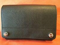 NWT Calvin Klein L-Susan H8GE18WB bsv Black Leather Crossbody/ Clutch