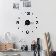 3D Wall Clock Luxury Modern Stickers Décor Numerals Clock for Kids Home Office