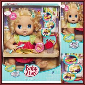RARE My Baby Alive Doll Retired NIB 2010 Interactive Talk Eat Poop NRFB