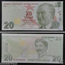 Turkey Paper Money 20 Lirasi 2009 UNC