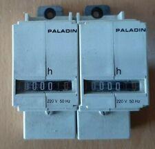 2 x PALADIN Betriebsstundenzähler 230 Volt für Verteilungseinbau + Lanfer 134420