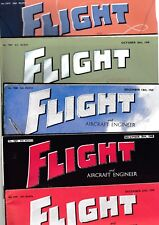Various Issues of FLIGHT INTERNATIONAL Magazine from July 1945 to December 1945
