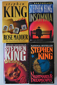 stephen king lot de 4 livres en anglais - poche-