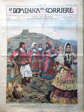 La Domenica del Corriere 16 Aprile 1899 Sovrani Sardegna Messico Olanda Lemaitre