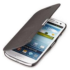 Samsung Galaxy S3 i9300 Ligera Cubierta Estuche Flip Funda Protectora Negro